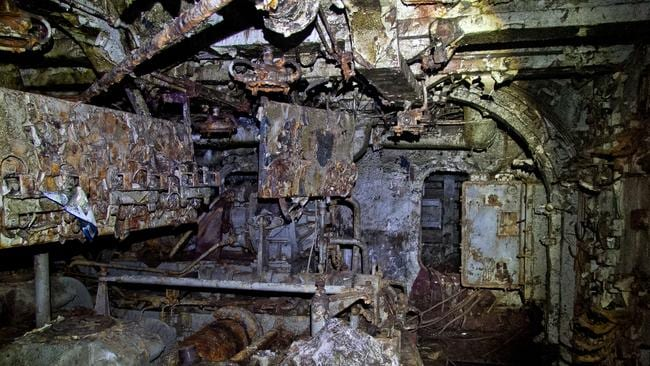 The inside of the Neukrotimiy is now heavily corroded. Picture: Vladimir Mulder/Caters News