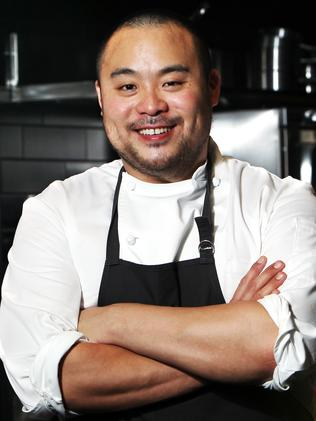 Korean-American chef David Chang in his restaurant Momofuku Seiobo at The Star in Sydney