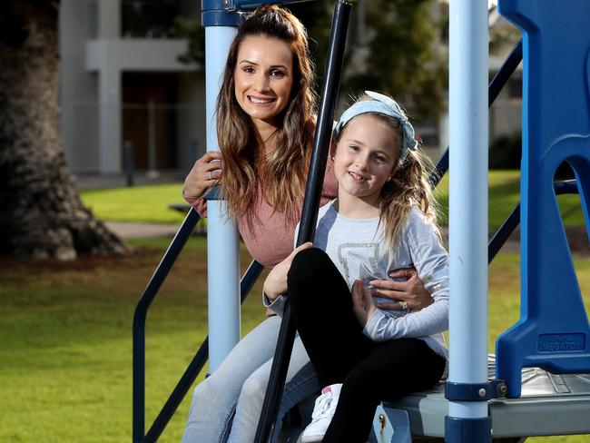 Melanie Hansen, with daughter Tyra, says super tax deductions encourage saving. Photo Calum Robertson
