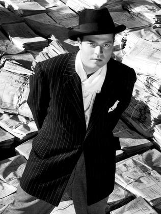 Orson Welles in Citizen Kane.