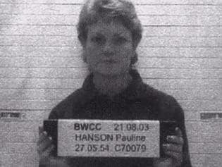 Pauline Hanson's police mugshot. Picture: Comedy Channel