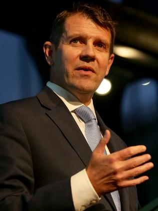 NSW Premier Mike Baird speaking at the 2016 Bradfield Oration. Picture: Jonathan Ng