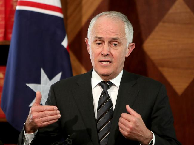 Turnbull has taken a hit in disastrous Newspoll results. Picture: Stuart McEvoy/The Australian.