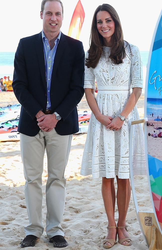 Not shoewear for a beam h in Australia ... Catherine, Duchess of Cambridge, and Prince William, Duke of Cambridge, would still have sand in those shoes.