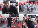 "Singer Justin Timberlake, ""The #Alsicebucketchallenge‬. Thanks for nominating me and @TheTNKids, #PatrickDownes & #JessicaKensky. I nominate @Jimmyfallon @TheRootsOfficial.To donate: alsa.org/donate/""... VIEW VIDEO Picture: Instagram"