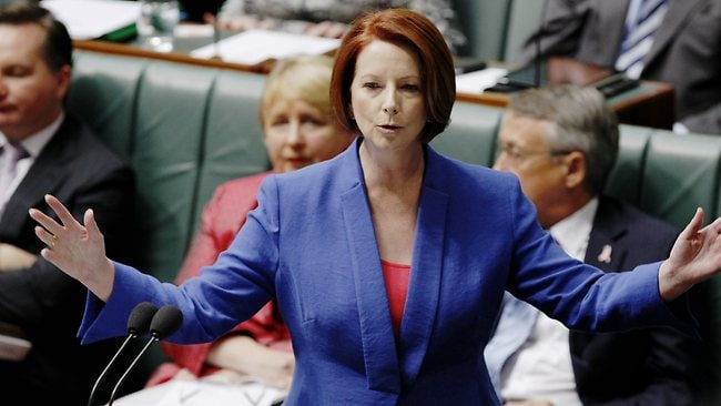 Julia Gillard told parliament she was personally offended by Mr Abbott. Picture: Smith Kym