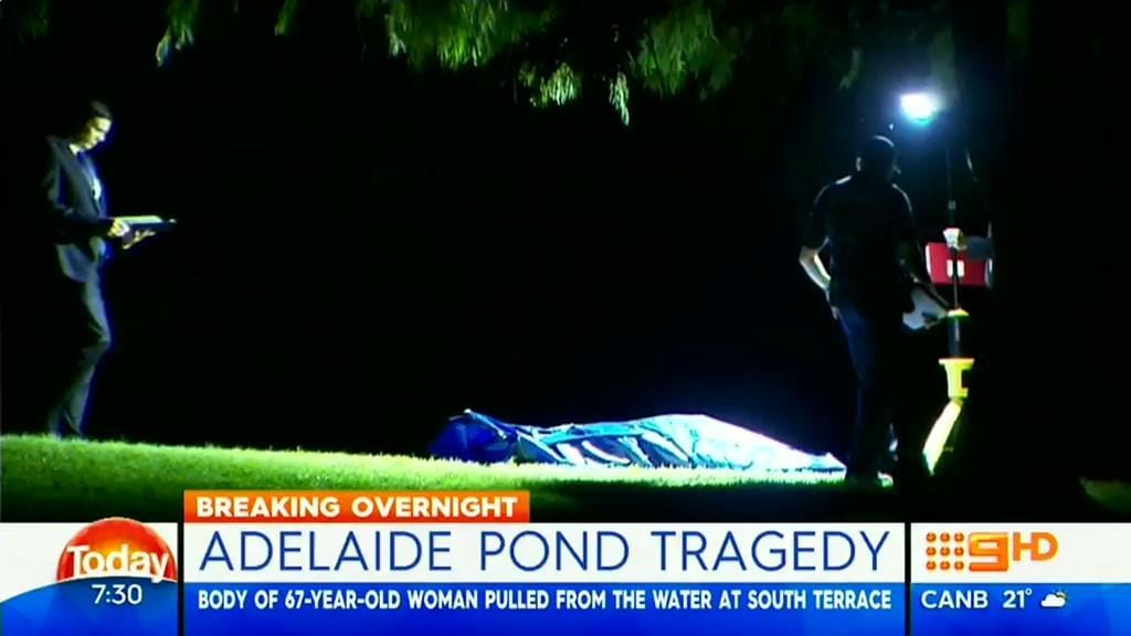 Woman s body found in pond in adelaide s south parklands for 333 south terrace adelaide