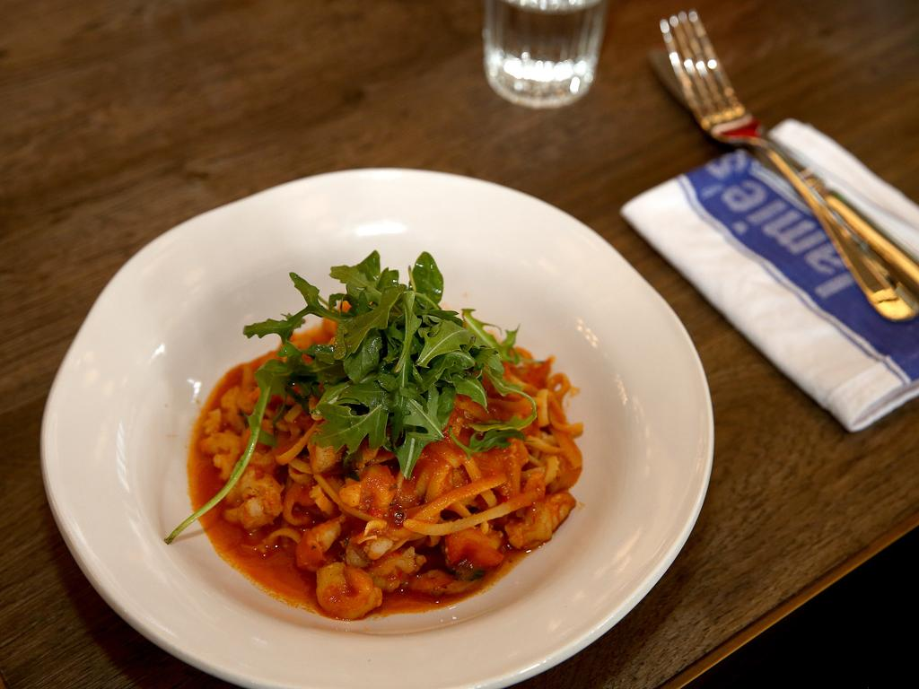 The prawn linguini. Picture: Mike Burton