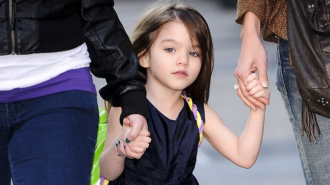 Tom Cruise and Katie Holmes' fashionista daughter Suri Cruise is set to launch her own fashion line at the age of seven. Picture: Getty