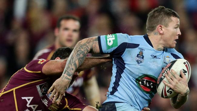 Carney in action for the Blues.