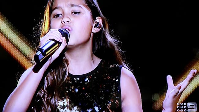 The Voice Kids winner Alexa. Picture: Channel 9.