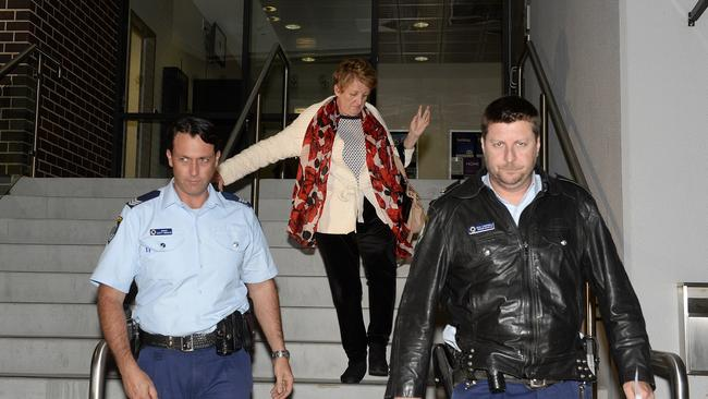 Bailey leaves Wyong Police Station after being charged last night. Picture: Peter Clark