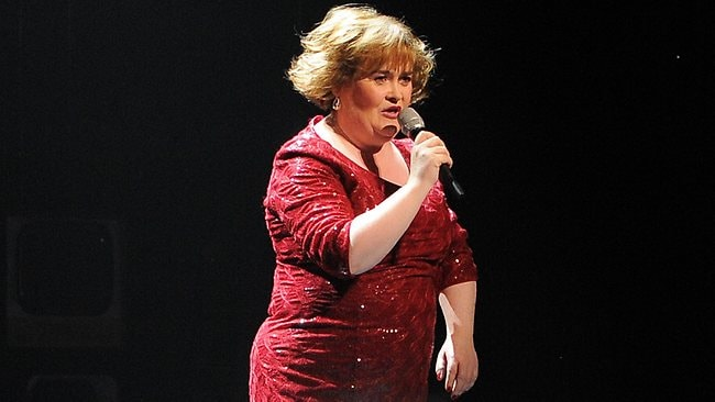Susan Boyle's happy with her old clothes. Picture: Andrew Yates/AFP