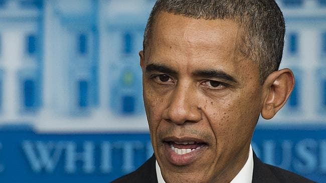 """US President Barack Obama has refused to negotiate under threat of """"extortion"""" throughout the entire process. Picture: AFP, Saul Loeb"""
