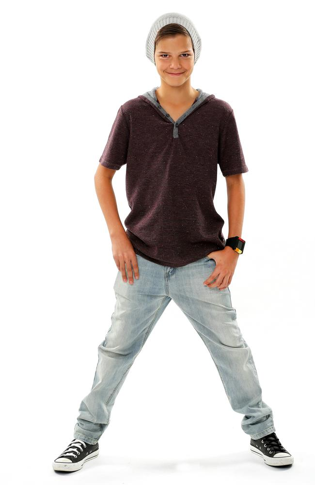 Fashionable youngster ... The Voice Kids contestant Ethan.