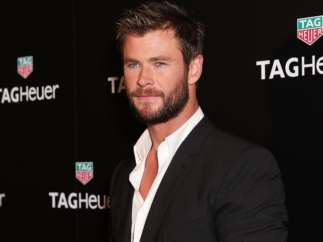 Chris Hemsworth is the face of Tag Heuer. Picture: Getty Images