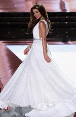 Miss Dominican Republic 2015, Clarissa Molina, competes in the evening gown competition during the 2015 Miss Universe Pageant on December 20, 2015 in Las Vegas. Picture: Getty
