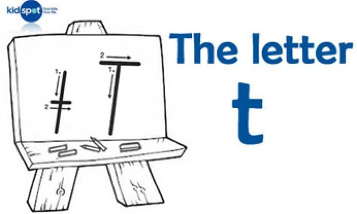 Handwriting: The letter t