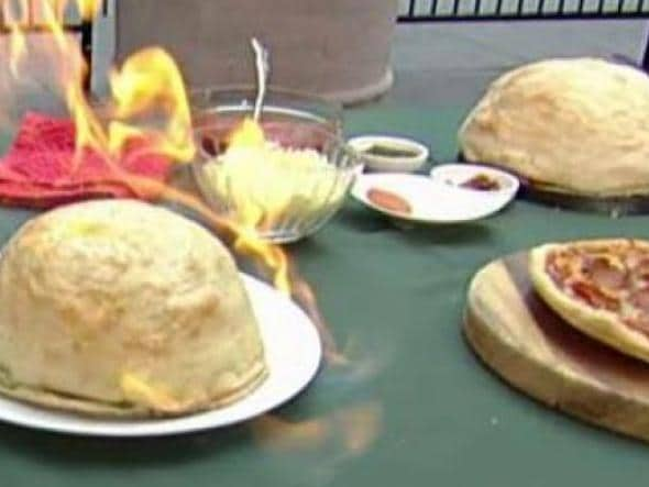 Exploding 'pizza bombs' are all the rage