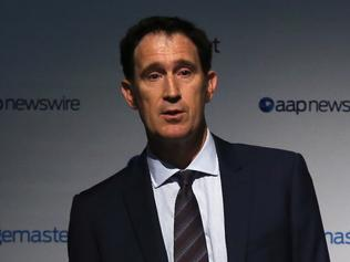 Chief Executive of Cricket Australia, James Sutherland speaking at the AAP Sports Editors Conference in Sydney, Wednesday, March. 29, 2017. The conference brings together key sports leaders and media organisations. (AAP Image/Jane Dempster) NO ARCHIVING