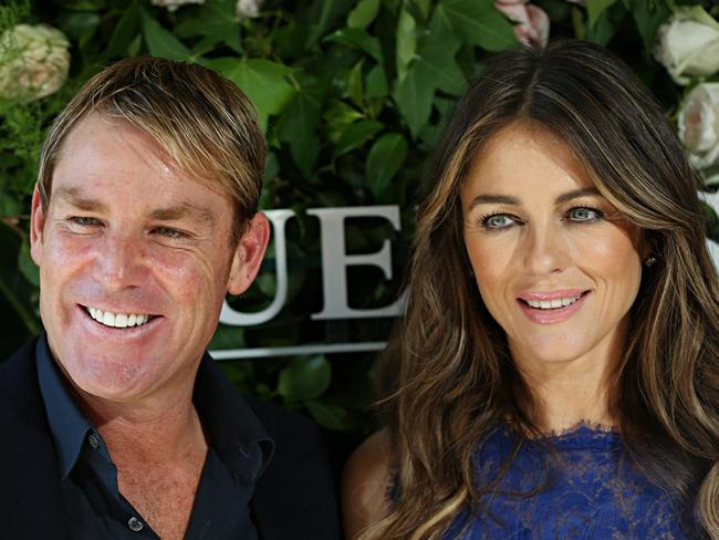 Warnie and Liz Hurley.