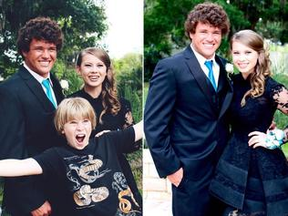 Bindi Irwin has posted this cute throwback image of her attending boyfriend Chandler Powell's prom one year ago. Source: Instagram.