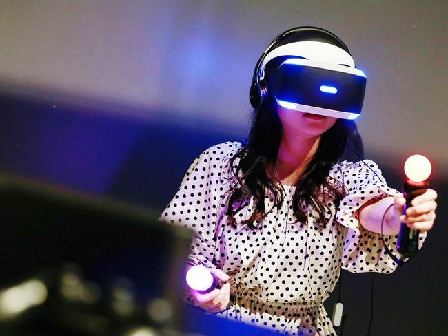 Hi-tech virtual reality headsets are a game-changer in the retail market, with sales expected to spike in December. Picture: European Press Photo Agency