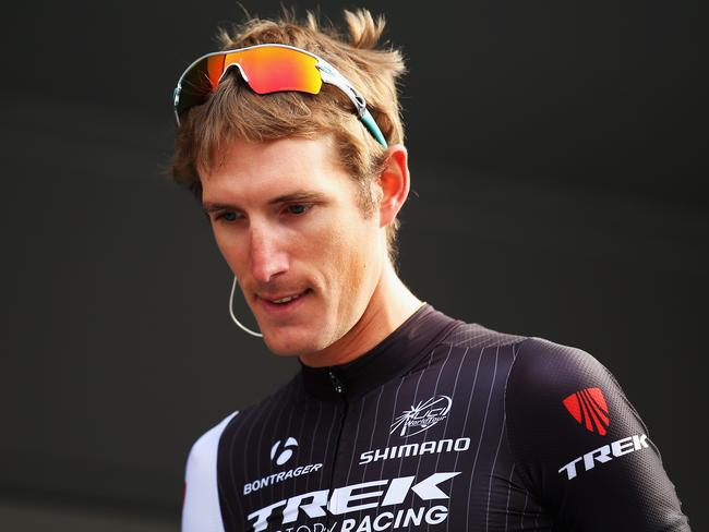 It was an unhappy race for Andy Schleck after tangling with the Prince.