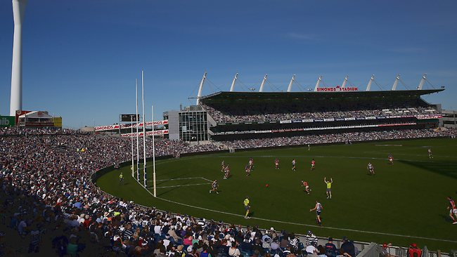 Simonds Stadium will host a qualifying final this weekend. Picture: Colleen Petch