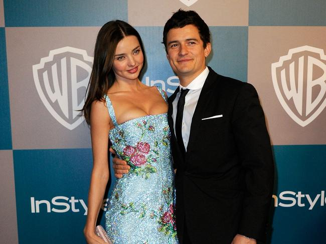 Model Miranda Kerr and Orlando Bloom pictured in 2012. Picture: Kevork Djansezian/Getty Images