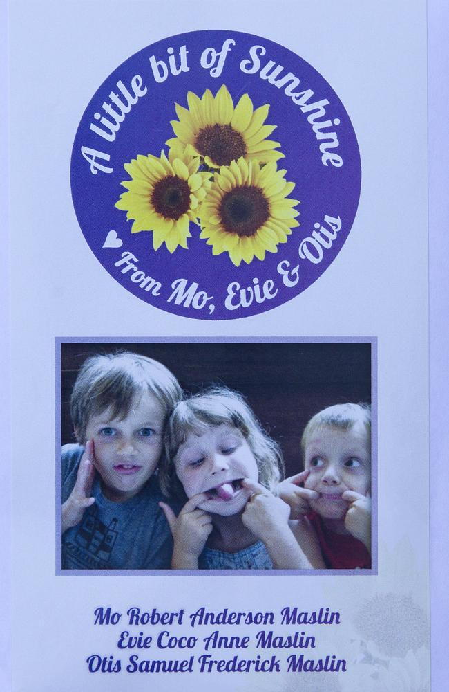 A packet of sunflower seeds was given to each guest at the memorial service.