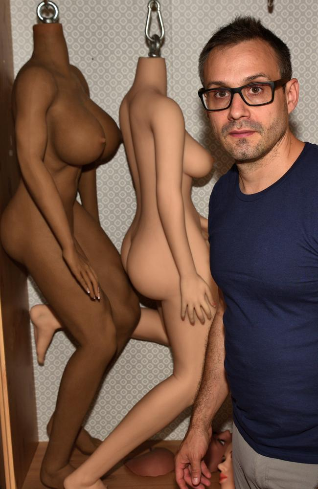 Scientist Sergi Santos believes his AI sex robots will benefit many people. Picture: Ronan O'Connell