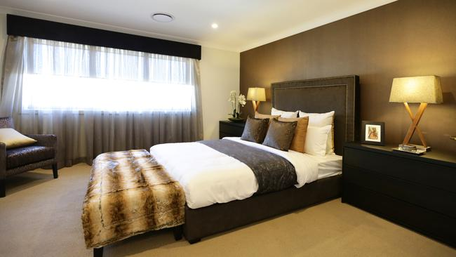 Walk in robes are standard in this clever design by clarendon homes daily telegraph Most common master bedroom size
