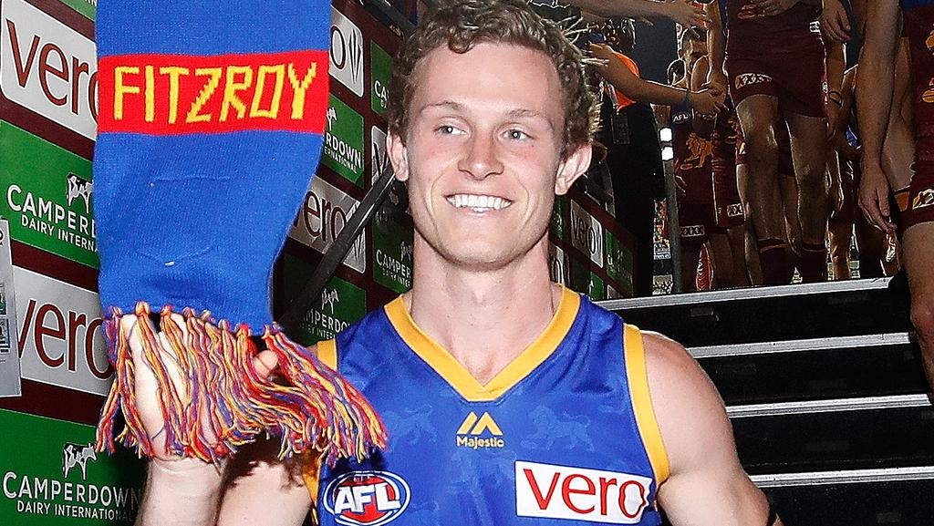 Ryan Lester after his 100th game. Picture: Getty Images