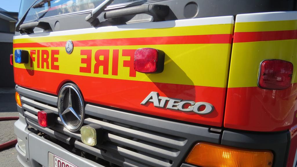 Emergency services are fighting a large bush fire at Gaven.