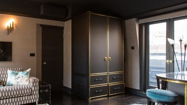 There is a Louis Vuitton-style panelled cupboard. Picture: Wetherell.