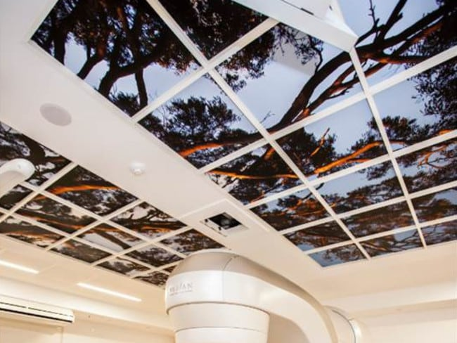 The artwork above linear acceleration, which is used for radiotherapy, at the new Royal Adelaide Hospital.