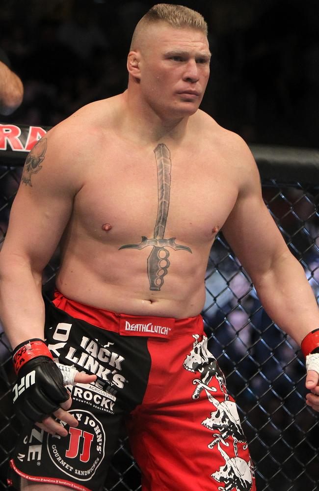 Brock Lesnar before his last UFC fight in 2011.