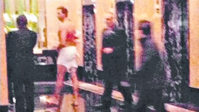 The infamous image taken at the Crown casino.