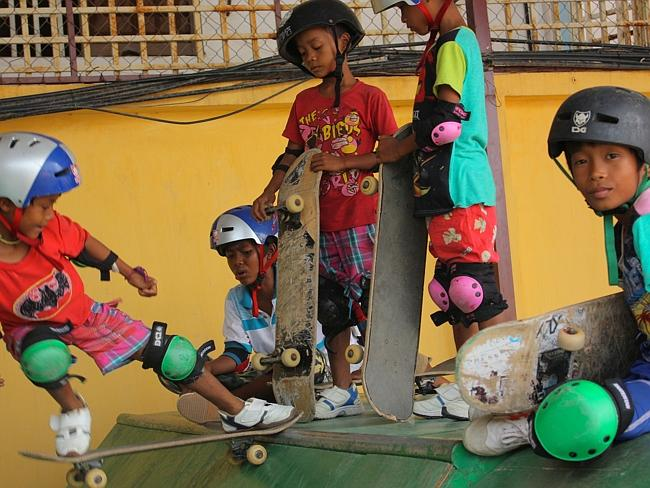The organisation has a second centre in Cambodia. Pic: Skateistan