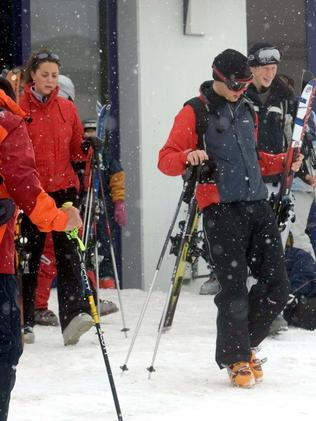 Kate Middleton was spotted with Prince William in March 2005 while on a skiing holiday with the royal family in Klosters, Switzerland. Picture: Splash News Australia