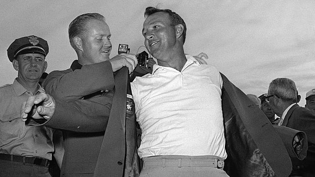 Masters champion Arnold Palmer is currently the third richest golfer, making all of his $40 million off the course. Fellow Green Jacket-winner Nicklaus (left) is fourth richest.
