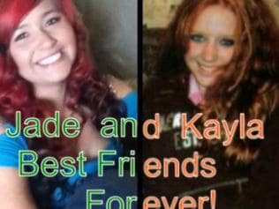 Jade Radov or @jumpinjems photoshops herself with the fake Kayla on Twitter.