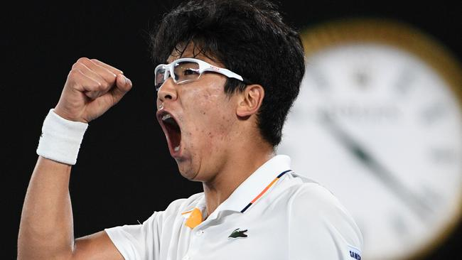 Hyeon Chung proved too strong for Novak Djokovic.
