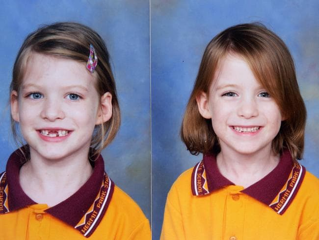 Missing twins Bronte and Isbaella Watter (above) as seven-year-olds who vanished after being dropped off at school in April 2014.