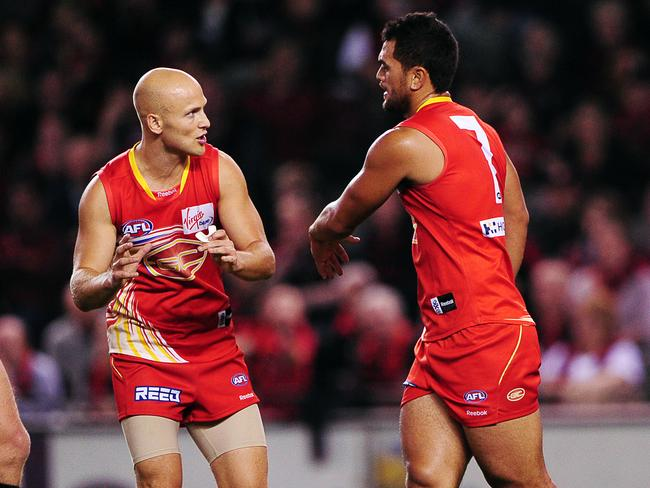 Ablett is excellent at encouraging and instructing his teammates. Picture: Colleen Petch