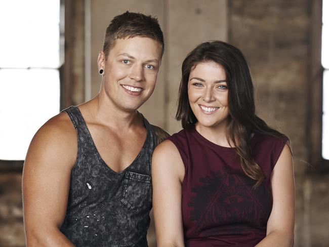 Ryan Rebbeck, pictured with partner Marlee was physically sick almost every day for two weeks while on House Rules.