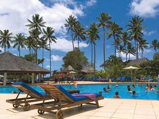 Pool at the Naviti resort in Fiji.