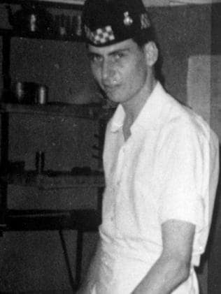 Dennis Nilsen working as an army cook before turning police officer