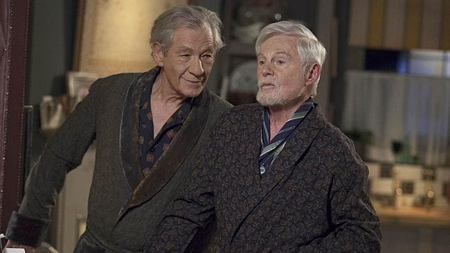 Trading barbs ... Vicious stars Ian McKellen and Derek Jacobi as gay couple Freddie Thornhill and Stuart Bixby. Picture: Supplied